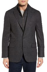 Flynt Men's Big And Tall Wool Blend Hybrid Sport Coat Charcoal