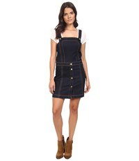 7 For All Mankind Pinafore Denim Dress In Clean Rinse Clean Rinse Women's Dress Navy