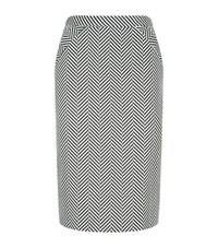 Escada Raras Chevron Pencil Skirt Female Black