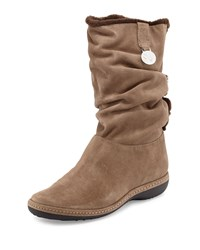 Stuart Weitzman Coinage Roll Down Ankle Boot Neutral