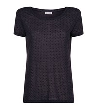 Claudie Pierlot Trefle Polka Dot T Shirt Female Navy