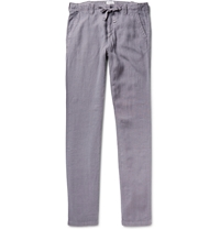 Hartford Regular Fit Linen Trousers Gray