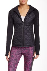 Steve Madden Diamond Quilt Run Jacket Black