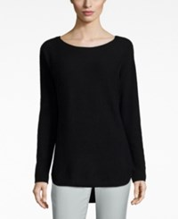 Charter Club Petite Cashmere Boat Neck High Low Sweater Only At Macy's Classic Black