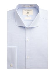 Racing Green Chandler Horizontal Stripe Formal Shirt Blue