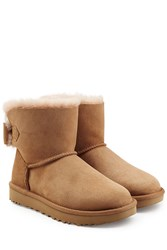 Ugg Australia Mini Bailey Bow Suede Boots Camel
