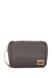Timberland Canvas With Patch Flat Pack Travel Kit Gray