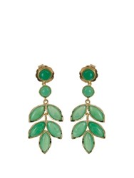 Irene Neuwirth Chrysoprase And Yellow Gold Earrings Green