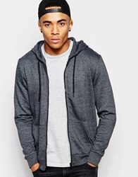 New Look Zip Through Hoodie Charcoal