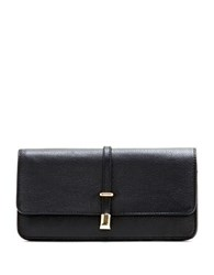 Vince Camuto Molly Pebble Grain Leather Continental Wallet Black