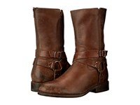 Frye Jayden Harness Zip Whiskey Smooth Stonewash Cowboy Boots Brown