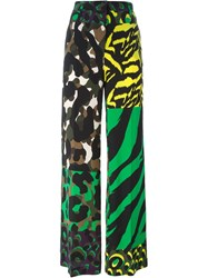 Versace 'Wild Patch' Trousers Multicolour