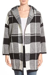 Women's Love Fate Destiny Hooded Plaid Sweater Coat