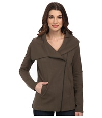 Nydj City Sport Cozy Moto Jacket Army Women's Coat Green