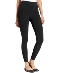 Star Power By Spanx Wide Waistband Tout And About Shaping Leggings Backdrop Black