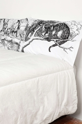 Urban Outfitters Alice Tea Party Pillowcase Set Black And White