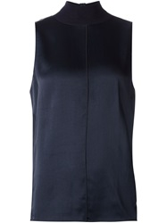Rag And Bone Rag And Bone Sleeveless Roll Neck Top Blue