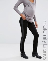 Noppies Maternity Over The Bump Smart Jeans With Tuxedo Panel Black