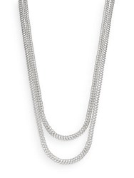 John Hardy Classic Chain Sterling Silver Double Strand Necklace