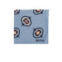 Roda Medallion Pocket Square Lt. Blue