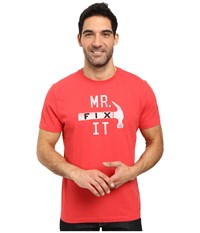 Life Is Good Mr. Fix It Crusher Tee Simply Red Men's T Shirt