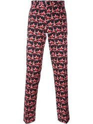 Ps Paul Smith Palm Tree Print Trousers Black
