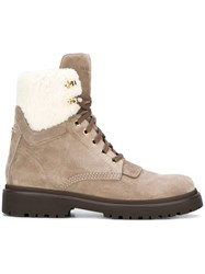 Moncler 'Patty' Ankle Boots Nude Neutrals