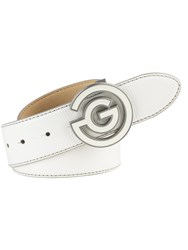 Galvin Green Wesley Leather Belt White