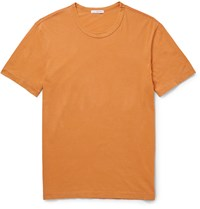 James Perse Slim Fit Cotton Jersey T Shirt Yellow