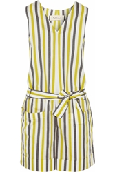 Marni Infinite Lines Striped Cotton Playsuit Bright Yellow