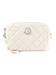 Moncler Quilted Make Up Bag White
