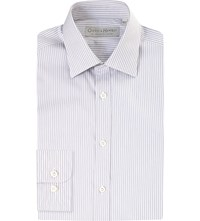 Gieves And Hawkes Slim Fit Cotton Shirt Lilac
