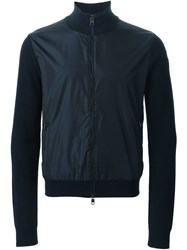 Moncler Two Tone Cardigan Blue