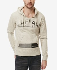 Buffalo David Bitton Men's Fateen Applique Graphic Print Logo Hoodie Heather Charlie