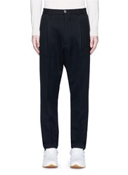 Song For The Mute Pleated Front Wool Blend Gabardine Pants Black