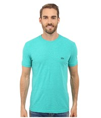 Lacoste Short Sleeve Vintage Washed Tee Papeete Dyed Men's Clothing Blue