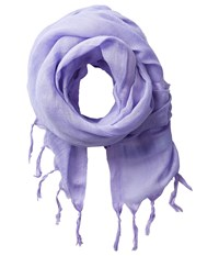 Love Quotes Linen Tassel Scarf Hydrangea Scarves Blue