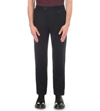 Oliver Spencer Fishtail Wool Trousers Dudley Midnight