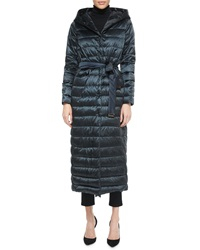 Max Mara Hooded Horizontal Quilted Down Parka Coat