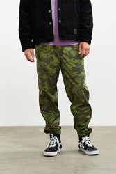 Urban Outfitters Uo Colorblocked Camo Nylon Pant Green Multi