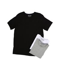 Kenneth Cole Reaction 3 Pack Crew Neck Tee Black Grey Heather White Men's T Shirt