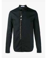 J.W.Anderson Button Embellished Cotton Shirt Black Silver