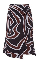 Emilio Pucci Knotted Wrap Knee Length Skirt Multi