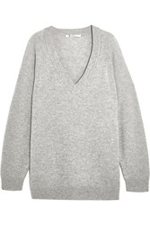 Alexander Wang T By Oversized Wool And Cashmere Blend Sweater Gray