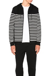 Alexander Wang Striped Gel Print Hoodie In Black Stripes