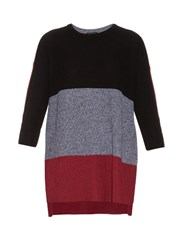 Rag And Bone Jena Contrast Panel Cotton Sweater Multi