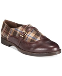 Bella Vita Reese Oxfords Women's Shoes Brown Plaid
