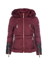 Relish Cropped Parka Red