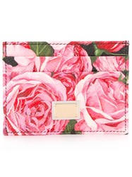 Dolce And Gabbana 'Dauphine' Floral Print Cardholder Black