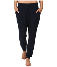 Midnight By Carole Hochman Lounge French Terry Pants Women's Pajama Navy